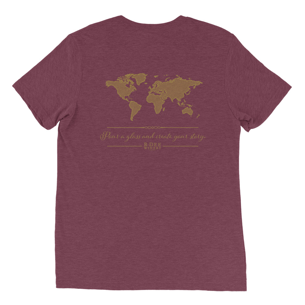 R Dee Winery maroon triblend shirt back