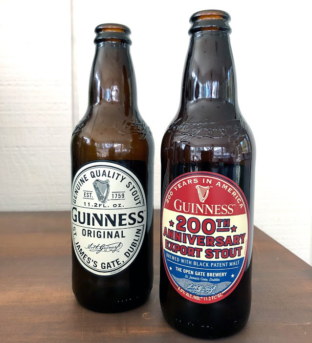 Guinness Original and 200th American Anniversary Edition