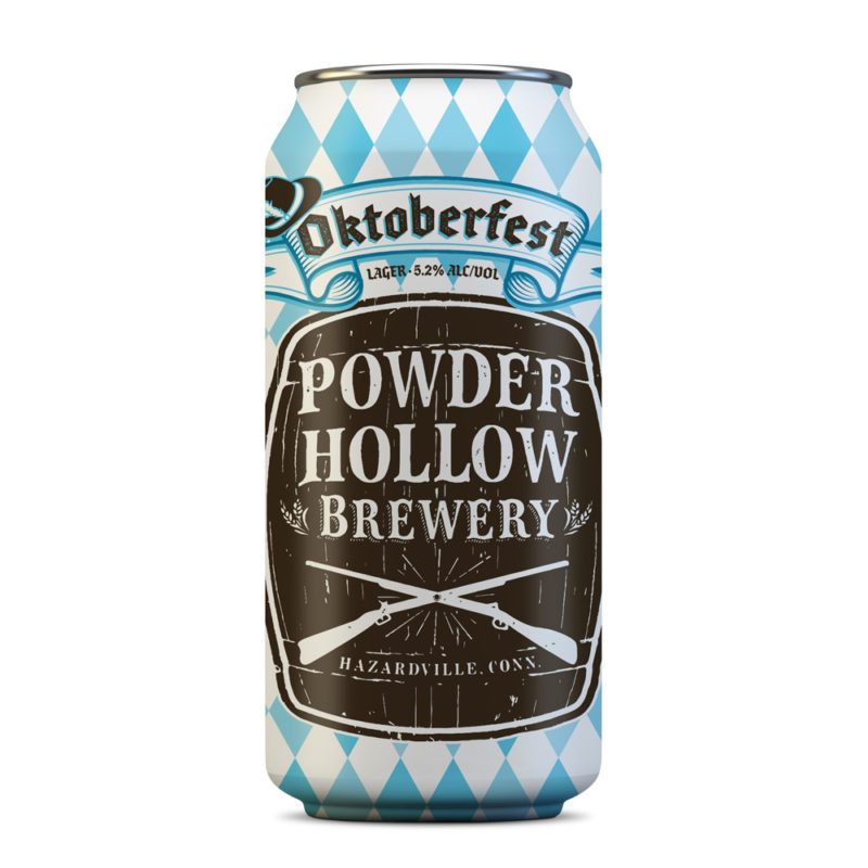 Oktoberfest Beer Label Design for Powder Hollow Brewery