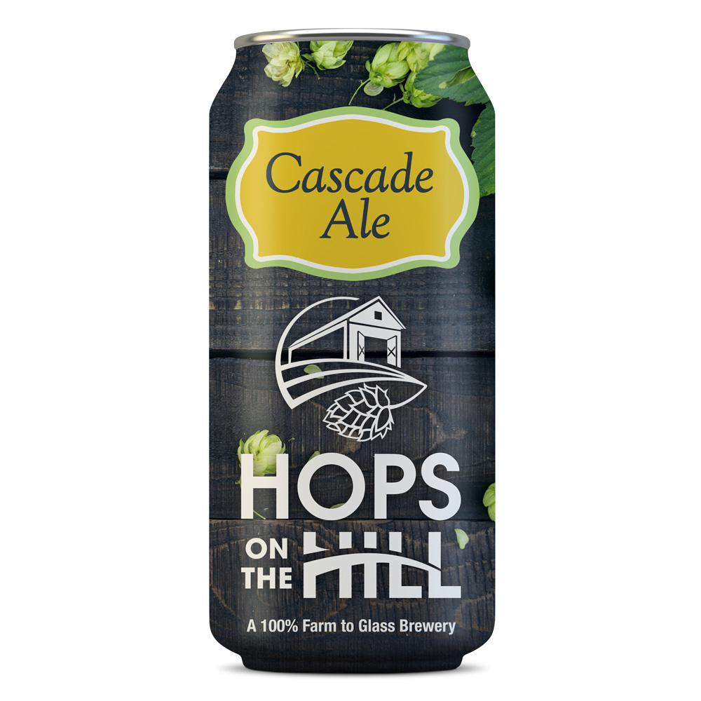 Final design for Cascade Ale by Hops on the Hill