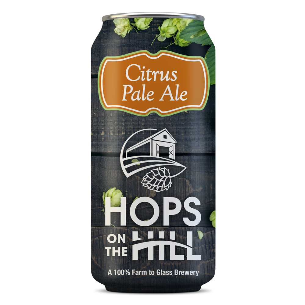Final design for Citrus Pale Ale by Hops on the Hill