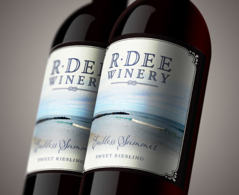 """Label design for """"Endless Summer"""" by R Dee Winery"""