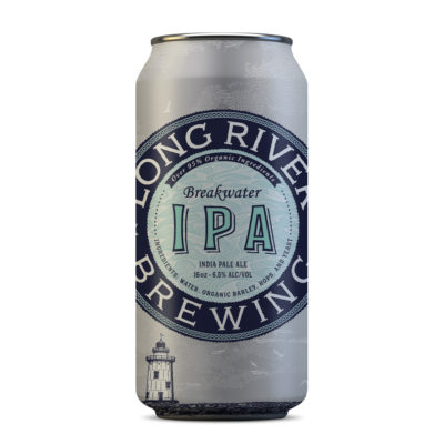 Long River Brewing Breakwater IPA can design