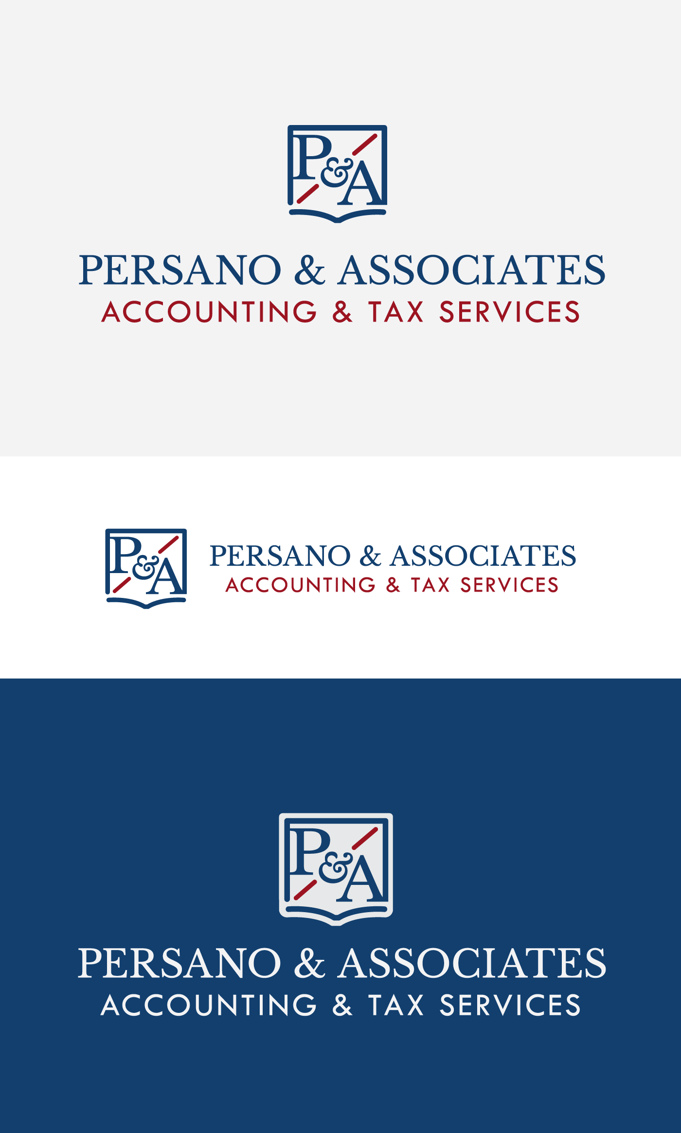 Logo for Persano & Associates - a small business in Somers, Connecticut that offers accounting and tax services.