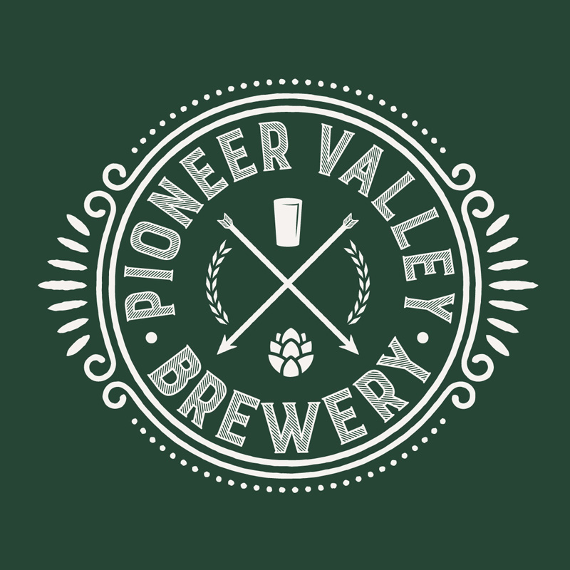 Pioneer Valley Brewery Logo - Green Background