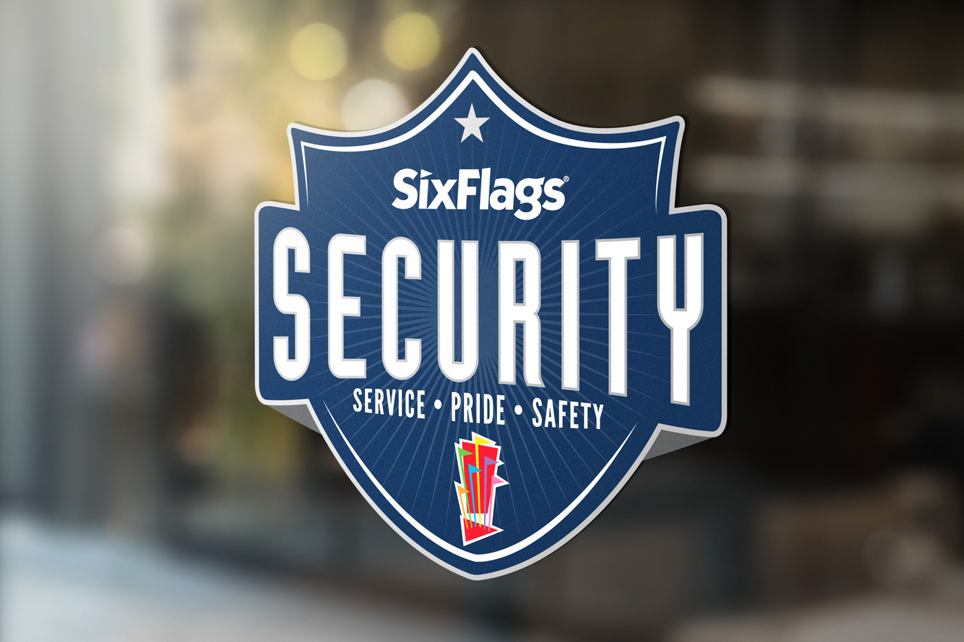Six Flags Security Window Signage
