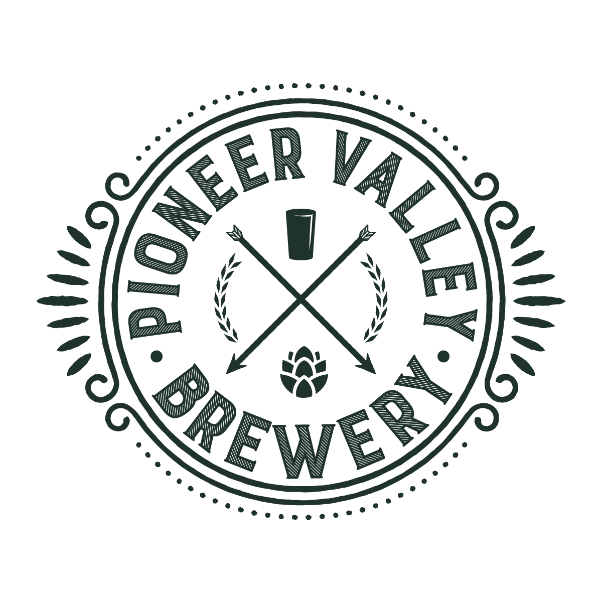 Pioneer Valley Brewery Logo - White Background