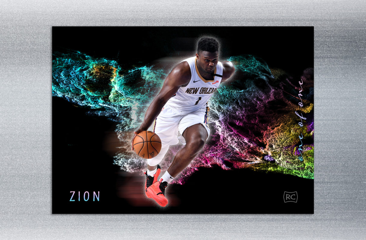 Zion-Williamson-Blast-of-Color-Art-Card