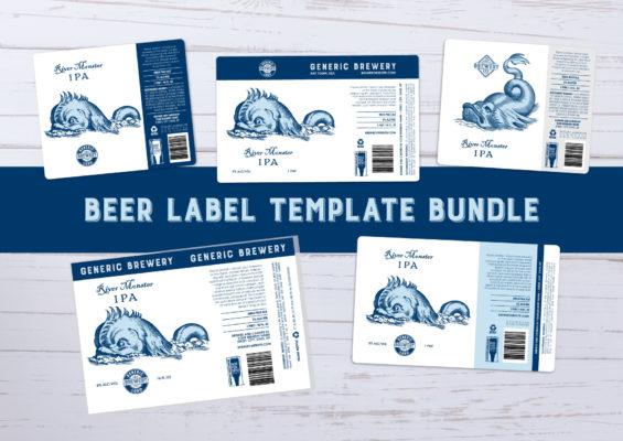 Beer Label Template Bundle 16oz / 1 Pint Aluminum Can